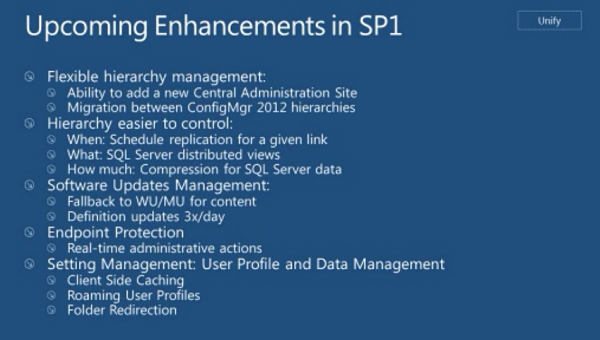SCCM 2012 Enhancements in SP1