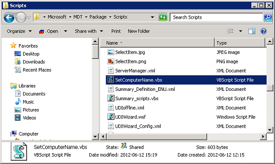 MDT 2013 Set Computername with VBS