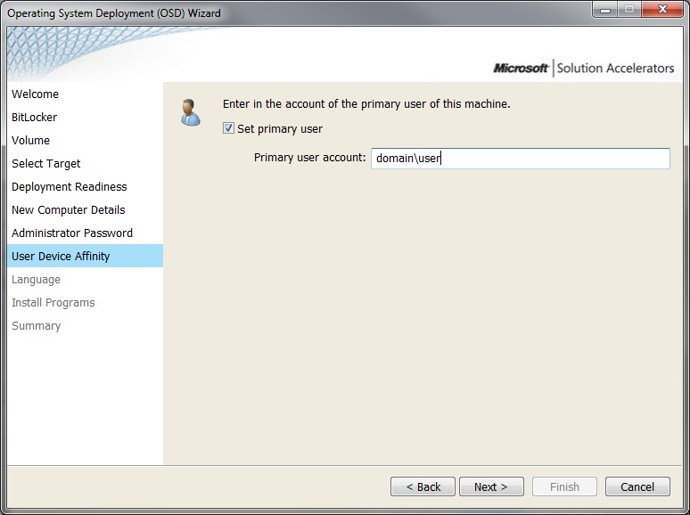 User Device Affinity with MDT 2012 UDI