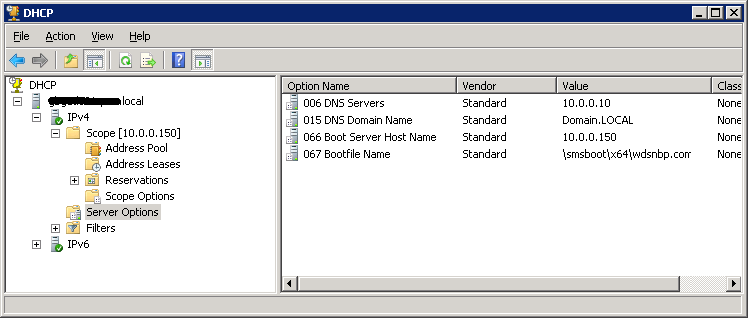 Setting Option 66 and 67 for DHCP