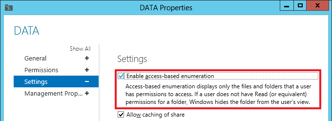 Access-based enumeration in Windows Server 2012 – Jocha