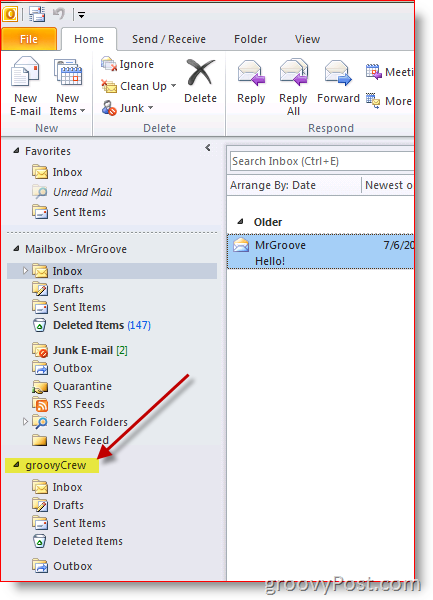 Add additional Mailbox in Outlook 2010