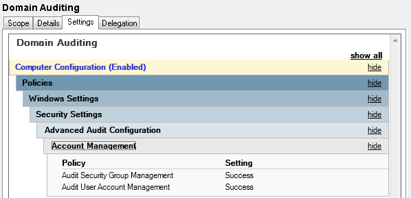 Auditing Group Changes in Active Directory