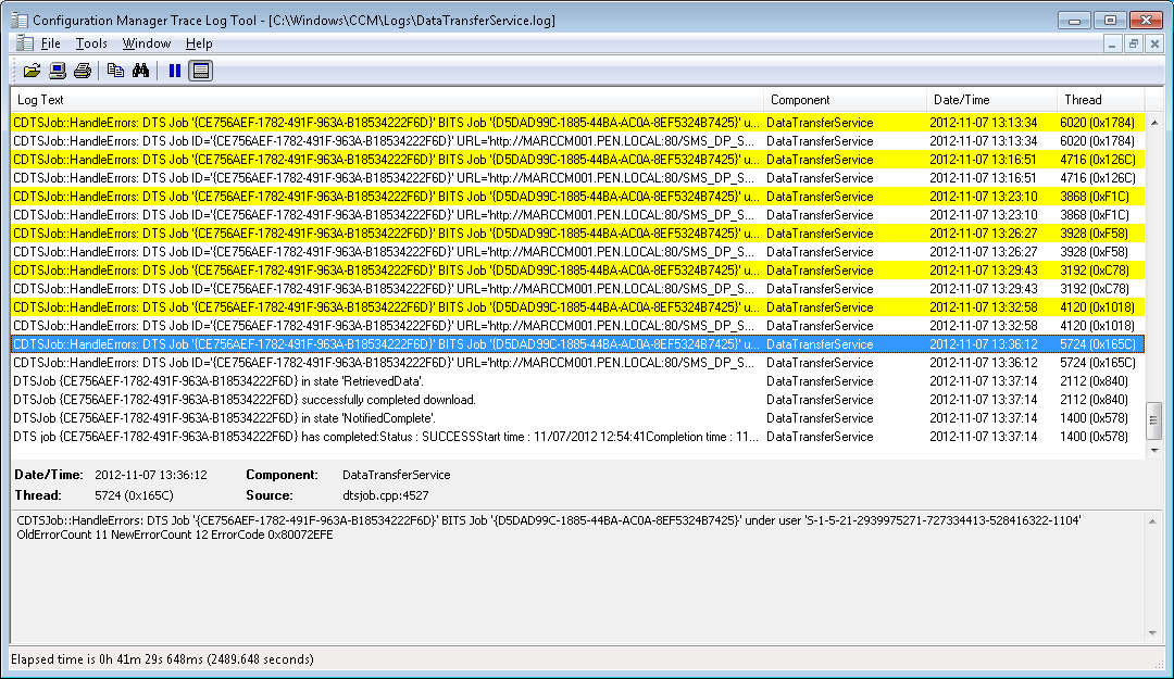 Hash mismatch with SCCM Application
