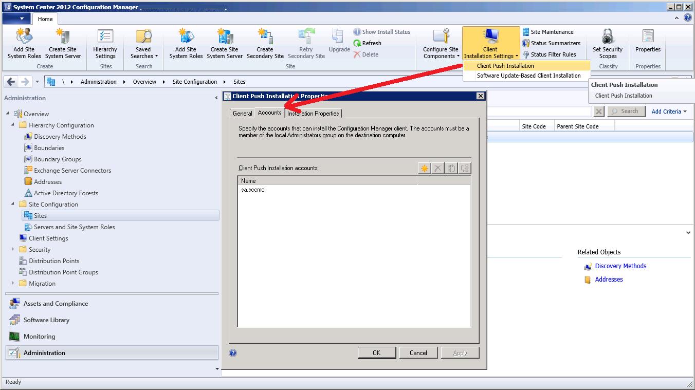 SCCM Client Installation Error 53 – Jocha