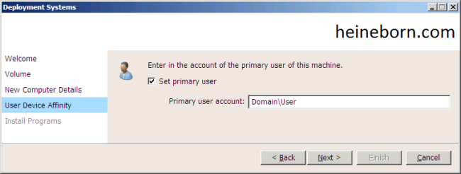 UDA in User Driven Installation