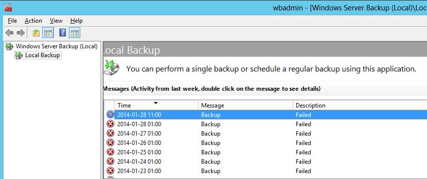 Windows Backup failing on TrueCrypt drive