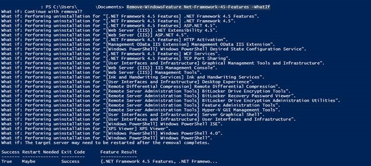 Removing .NET Framework 4.5 breaks Windows 2012