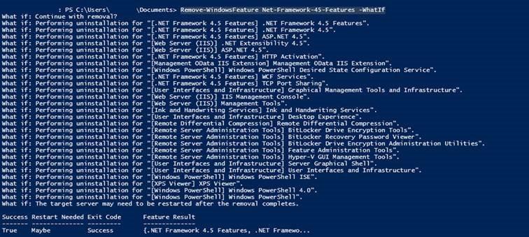 Removing .NET Framework 4.5 breaks Windows 2012