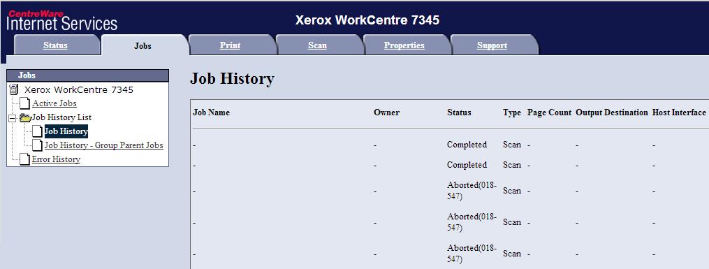 Printing Error 018-547 on Xerox WorkCentre