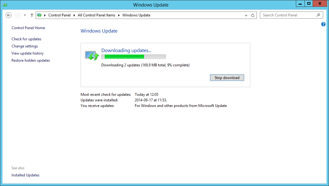 Event 122: Drivers from Windows Update blocked