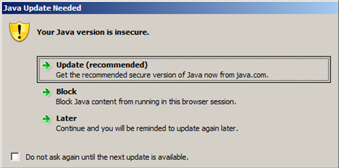 Uninstall all Java versions