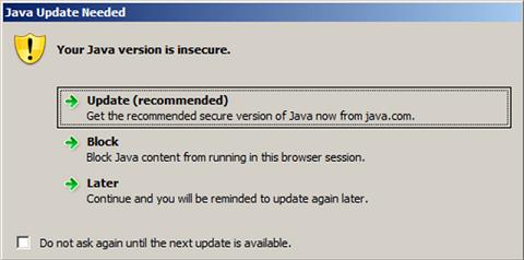 Uninstall all Java versions