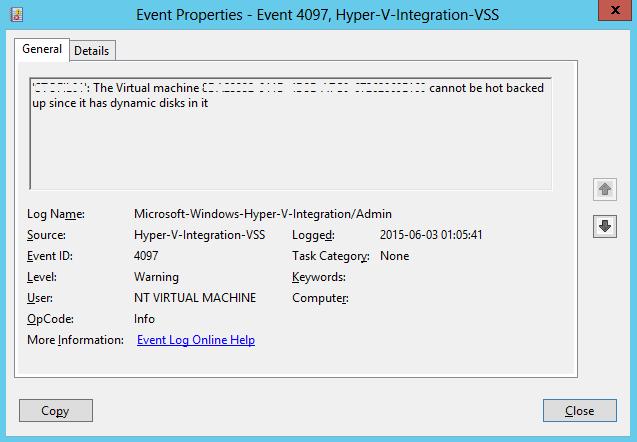 Event 4097 Hyper-V