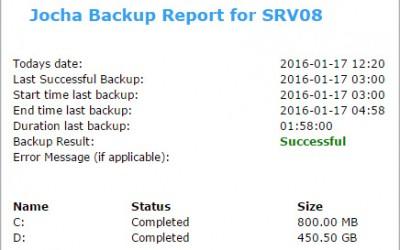Windows Backup Mail Report Script