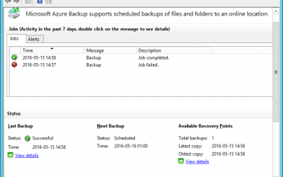 Azure Backup Job Failed 0x1D4C2